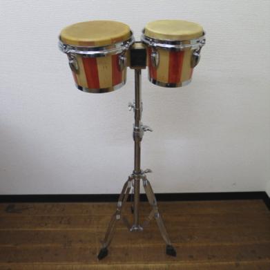 ★ ボンゴ スタンド付 メーカー不明 民族楽器 ★