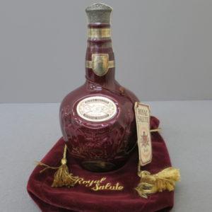 ロイヤルサルート 21年 スコッチウイスキー 陶器ボトル 赤 をお売りいただきました
