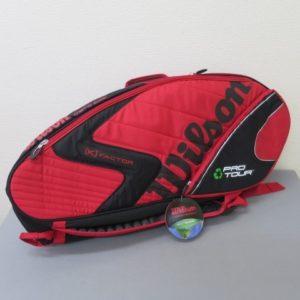 ★ウィルソン テニスバッグ エコプロ ツアー スーパー SIX 赤/黒 未使用★