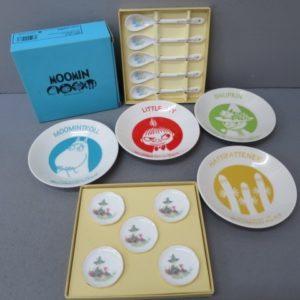 ★ムーミン デザート皿4、スプーン5、スプーンレスト5 計14点セット 未使用★