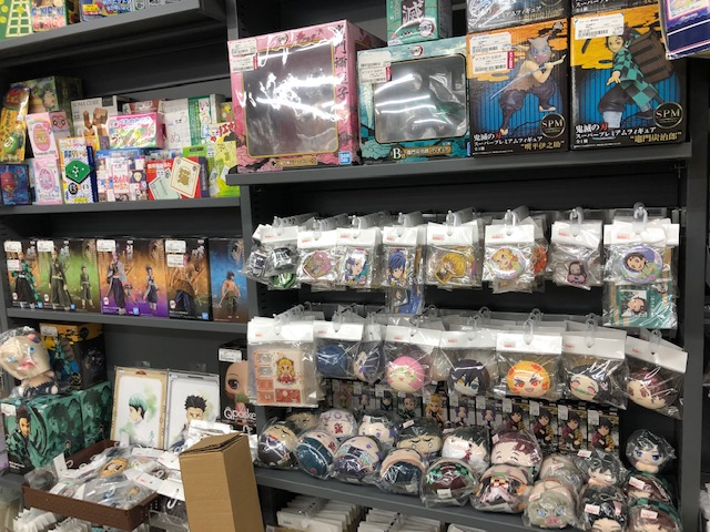 ブックオフ新屋島店の2Fホビーコーナーに鬼滅の刃グッズ大量入荷!!