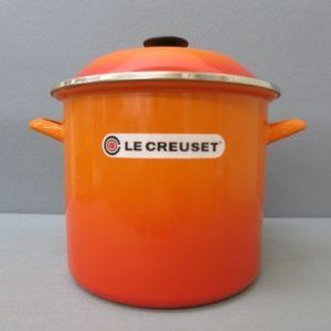 ★ル・クルーゼ ストックポット 深型鍋 内側直径約23cm オレンジ 未使用★